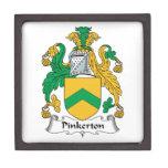 Escudo de la familia de Pinkerton Cajas De Joyas De Calidad