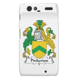 Escudo de la familia de Pinkerton Motorola Droid RAZR Funda