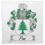 Escudo de la familia de Pino Servilletas Imprimidas