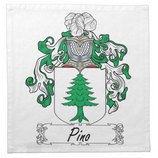Escudo de la familia de Pino Servilletas