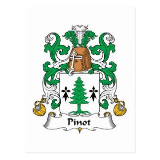 Escudo de la familia de Pinot Tarjetas Postales