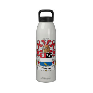 Escudo de la familia de Pinson Botellas De Beber