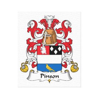 Escudo de la familia de Pinson Impresion De Lienzo