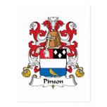 Escudo de la familia de Pinson Postal