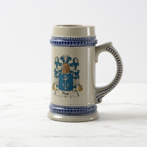 Escudo de la familia de Piot Jarra De Cerveza