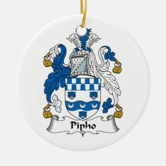 Escudo de la familia de Pipho Adorno Redondo De Cerámica