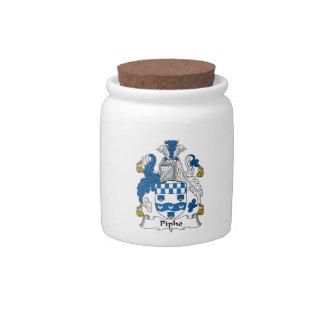 Escudo de la familia de Pipho Platos Para Caramelos