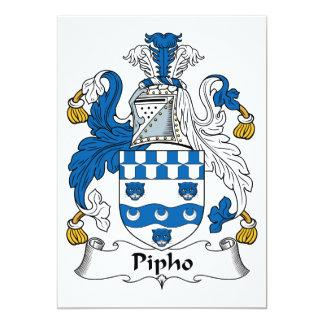 Escudo de la familia de Pipho Invitación 12,7 X 17,8 Cm