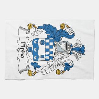 Escudo de la familia de Pipho Toallas De Mano