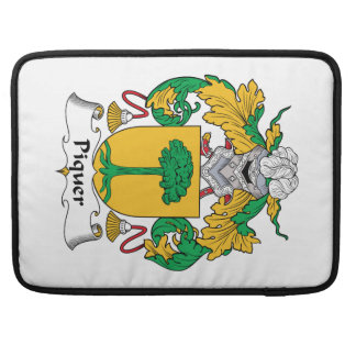 Escudo de la familia de Piquer Fundas Para Macbooks