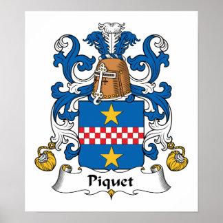 Escudo de la familia de Piquet Impresiones