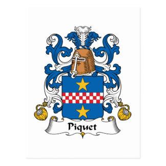 Escudo de la familia de Piquet Tarjetas Postales