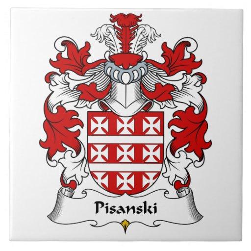 Escudo de la familia de Pisanski Azulejos