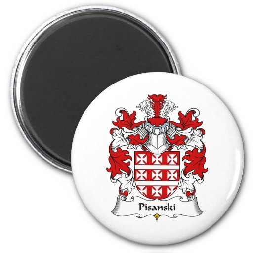 Escudo de la familia de Pisanski Imanes De Nevera