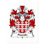 Escudo de la familia de Pisanski Postal
