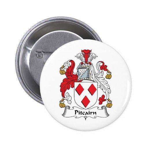 Escudo de la familia de Pitcairn Pin Redondo De 2 Pulgadas
