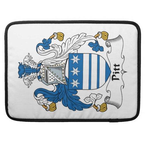 Escudo de la familia de Pitt Funda Para Macbooks