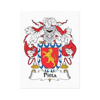 Escudo de la familia de Pitta Impresion De Lienzo