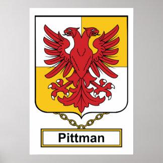 Escudo de la familia de Pittman Póster