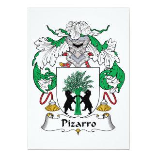 """Escudo de la familia de Pizarro Invitación 5"""" X 7"""""""