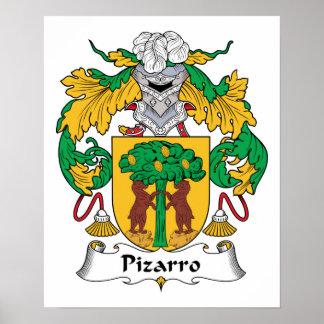 Escudo de la familia de Pizarro Póster