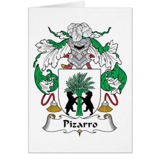 Escudo de la familia de Pizarro Tarjeta De Felicitación