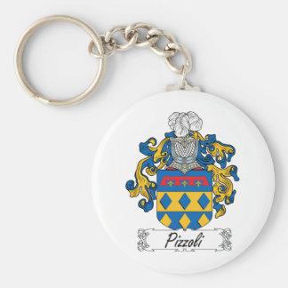 Escudo de la familia de Pizzoli Llavero Redondo Tipo Pin