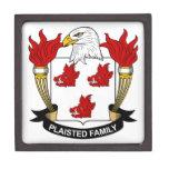 Escudo de la familia de Plaisted Caja De Recuerdo De Calidad
