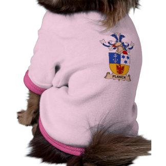 Escudo de la familia de Planck Camisetas Mascota