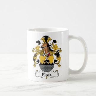 Escudo de la familia de Platz Tazas De Café