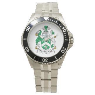 Escudo de la familia de Plenderleith Reloj