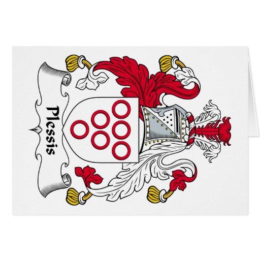 Escudo de la familia de Plessis Felicitaciones