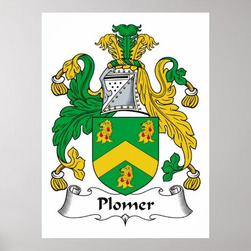 Escudo de la familia de Plomer Póster