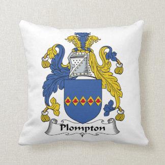 Escudo de la familia de Plompton Almohadas
