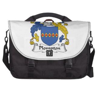 Escudo de la familia de Plompton Bolsas De Ordenador