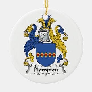 Escudo de la familia de Plompton Ornamente De Reyes