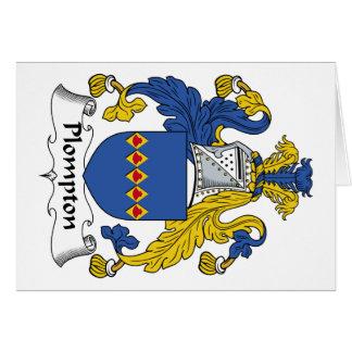 Escudo de la familia de Plompton Felicitacion