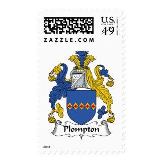 Escudo de la familia de Plompton Franqueo