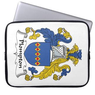 Escudo de la familia de Plompton Mangas Computadora
