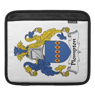 Escudo de la familia de Plompton Funda Para iPads
