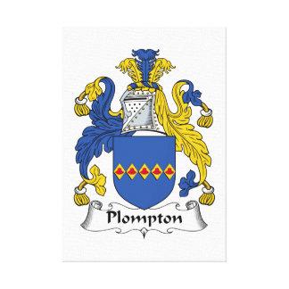 Escudo de la familia de Plompton Impresión En Lienzo Estirada