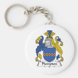 Escudo de la familia de Plompton Llavero