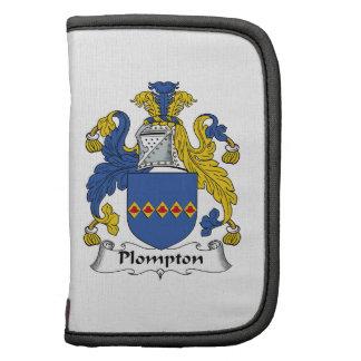Escudo de la familia de Plompton Organizadores