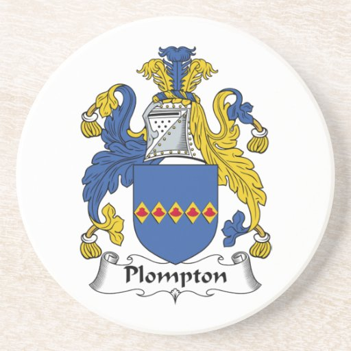 Escudo de la familia de Plompton Posavaso Para Bebida