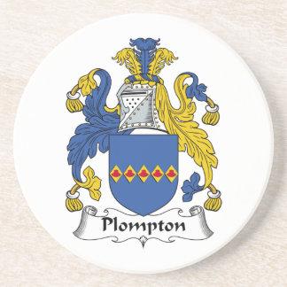 Escudo de la familia de Plompton Posavasos Diseño