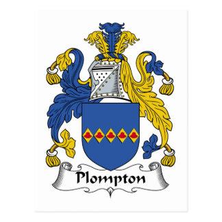 Escudo de la familia de Plompton Postal