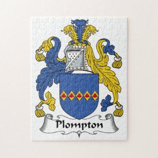 Escudo de la familia de Plompton Rompecabezas