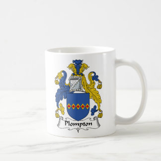 Escudo de la familia de Plompton Tazas