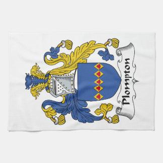 Escudo de la familia de Plompton Toallas De Mano