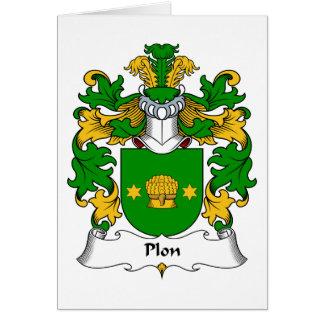 Escudo de la familia de Plon Tarjeta De Felicitación